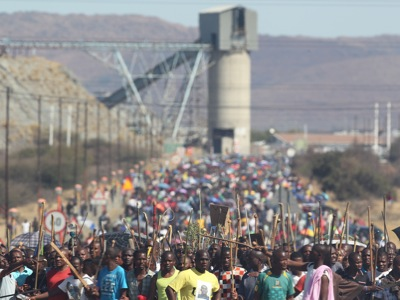 South Africa Mining Violence